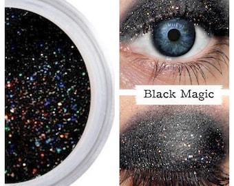 Black Rainbow, Sparkle Eyeshadow, Trending, Pro Pigment, Goth Cosplay Punk, Natural Eye Shadow, Mineral Makeup, Vegan Cruelty Free, Trends