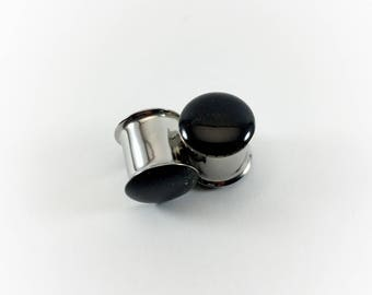 Black Metallic Glitter Plugs