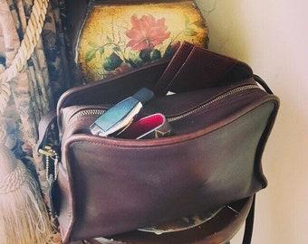 Vintage Coach Sutton Crossbody Mahogany Handbag // Coach Leather Shoulder Handbag // Made In Mexico # 9814