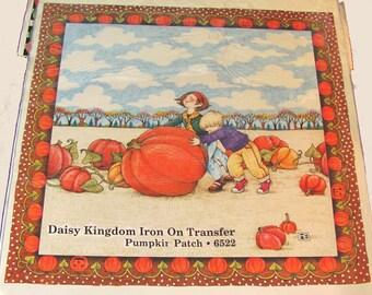 Pumpkin Patch: Daisy Kingdom Iron On Transfer ~ Mary Engelbreit Iron-on #6522 ~ Vintage 1990, still sealed