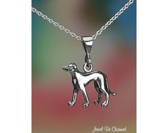 Sterling Silver Whippet or Greyhound Necklace or Pendant Only .925
