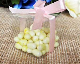 """50pcs Clear PVC Wedding Party Baby Shower Favor Gift Craft Boxes 2"""" 3"""""""