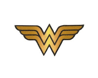 Wonder Woman Iron On Applique, Wonder Woman Patch, Genuine DC Comics Iron On Patch, Superhero Patch, Embroidered Patch, Kids Patch, 3x7