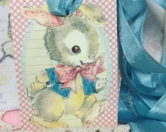 Glittered Easter Tags, Easter Bunny, Easter Rabbit Easter, Vintage Easter Images, Retro Easter Tags, Easter Theme tree, Easter