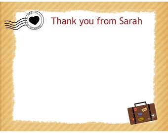 20 Personalized Thank You Cards -   LOVE is Everywhere Design