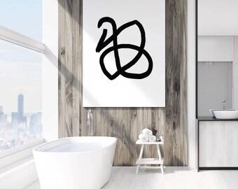 Abstract Wall Print, Line Wall Art, Black and White Print, Abstract Print, Wall Art, Black Print, Simple Print, Wall Decor, Wall Print