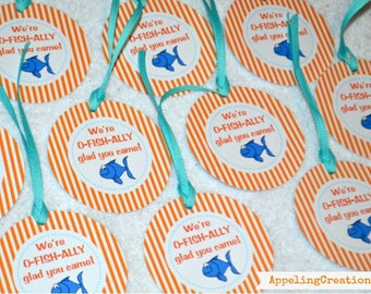 Fish Birthday Party Favor Tags, Fish Favor Tags, Fish Party, Fishy Birthday, Party Tags, Fish Party, Favor Tags, appelingcreations
