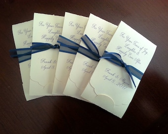 Set of 12 Tears of Joy Tissue Packets - Wedding Tissue Packets - Guest Favors - Best Selling Item