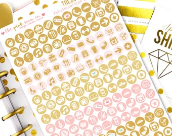 THE DO DO ~ Functional Icon Planner Stickers in Heart of Gold  collection  for all planners (Happy Planner, Erin Condren, kikkik, filofax)