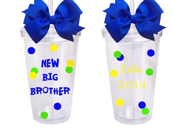 New Big Brother, Personalized Acrylic Tumbler