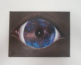 "Universal cosmic art ""Eye of the Universe"" spiritual artwork original painting"