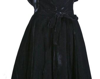 Black Velvet Suzy Perette New York Strappy Dress Size Small