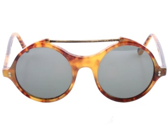 Gianni Versace vintage 80s round tortoise cool and hype sunglasses , NOS 1980s