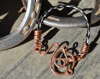 10 inch copper wire work horsehair anklet