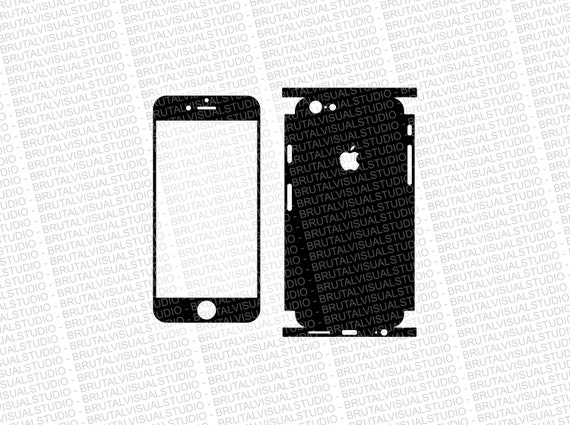 Iphone 6 - Skin Cut Template  Ver.1 - Templates for cutting or machining - Digital Download - Plotter, CNC, Lasers - SVG - Total Full Wrap
