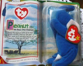Beanie Babies, McDonald's Toy, Happy Meal Toy, Peanuts, Blue Elephant, Teanie Beanie Babies, Soft Kids Toy