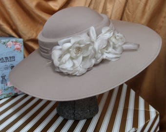 Vintage Retro Ladies Hat KANGOL Formal Wide Brim