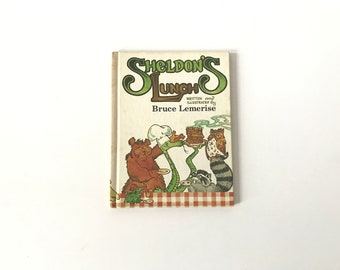 Vintage 1980s Sheldon's Lunch by Bruce Lemerise Illustrated Hardcover Childrens Book Bedtime Story