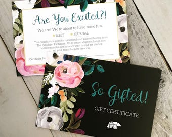 Gift Certificate for Custom Hand-Painted Bible
