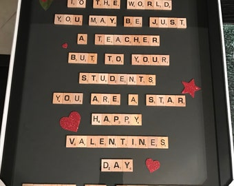 Scrabble Frame - Teacher Appreciation