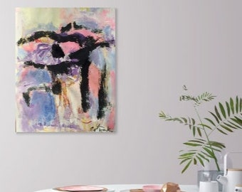 Abstract expressionist  painting, abstract designs, home interior decor, painting, RussPotakArtist