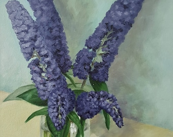 Original Contemporary Oil Painting - Summer Buddleia