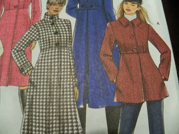 Butterick B5145 Sizes 8 to 14 Misses Coat Sewing Pattern Supply ...