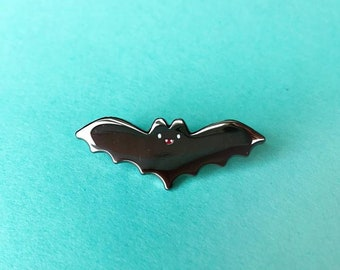 Batty bat enamel pin