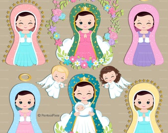 Virgen de guadalupe, Mother Mary clipart, Virgencitas, Virgin Mary, Religious clipart