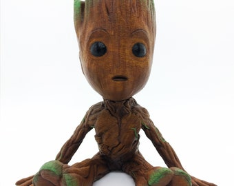 Baby Groot model, hand painted
