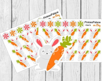Easter Rabbit with Carrot Planner Stickers PS479