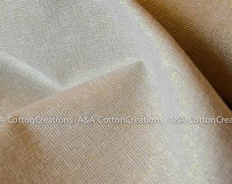 Metallic Sand 1323 Exxes Linen, Yarn Dyed Linen, Sparkle fabric, Apparel Fabric, Linen fabric, Gold Fabric, Robert Kaufman