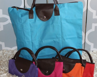 SALE--MonogrammedTote--Fold UP Nylon / Great Gift/ All Season Bag--While They LAST!