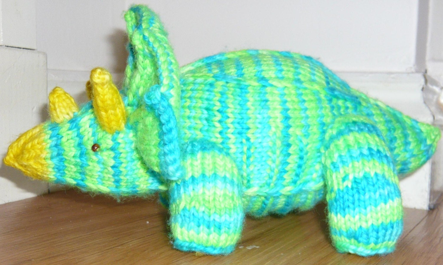 Triceratops Pattern pdf, create your own amigurumi knitted dino
