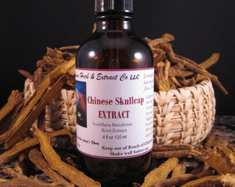 CHINESE SKULLCAP EXTRACT  Tincture Scutellaria Baicalensis  4 ounce
