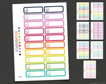 Medical Appointment Planner Stickers - Repositionable Matte Vinyl