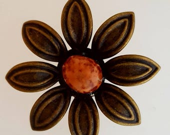 Lake Superior Agate Ball Bobby Pin