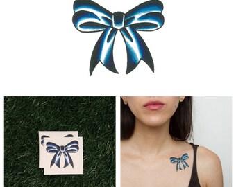 Blue Ribbon - Temporary Tattoo (Set of 2)
