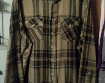 Sears button down acrylic warm shirt  size Large