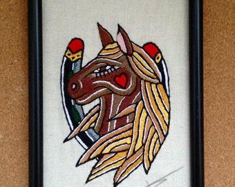 Horse Head,tattoo flash Embroidery