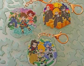Kingdom Hearts Charm - Large Acrylic Keychain Set