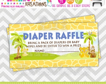 640 Raffle Tickets: King Of The Jungle Raffle Ticket - Instant Downloadable File