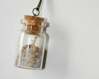 You Are Loved message in bottle necklace