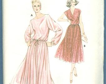 1970s Misses' Dress Designed by Kerstin Martensson Sizes 6,8,10,12 - Vintage Kwik Sew Sewing Pattern 925