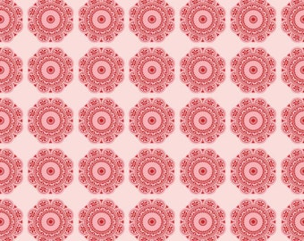 Found Medallions by Riley Blake in  Red - 1 yard