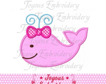Instant Download  Girl Whale Applique Embroidery Design NO:1518
