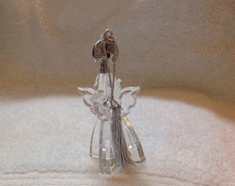 Vintage clear angel glass