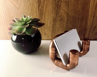 Business card holder / / business card holder / / display business cards / / industrial Chic / / copper