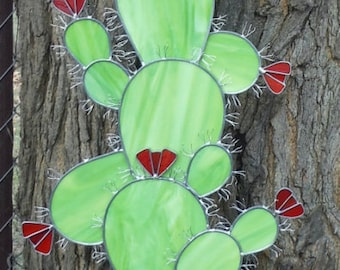 Six Foot Tall Cactus Sculpture in Stained Glass, Made to Order Deposit Required, Please Read Entire Listing