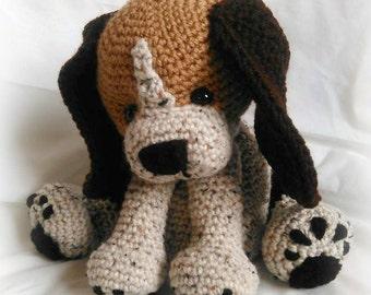 Rusty the Beagle Pup; CROCHET PATTERN; PFD